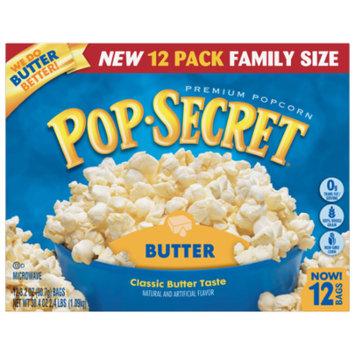 Pop Secret Microwave Popcorn, Butter, 3.2 Oz, 12 Ct