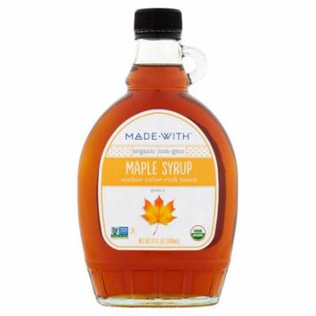Made With Syrup Maple Grd A Ambr Org,12 Fo (Pack Of 12)