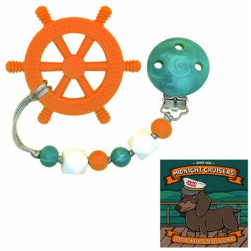 GumBaby 'Yacht Rocker' Teething Toy w/ Beaded Pacifier Clip + Jammy Jams