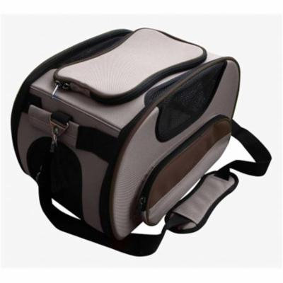 Airline Approved Sky-Max Modern Collapsible Pet Carrier, Brown - Large