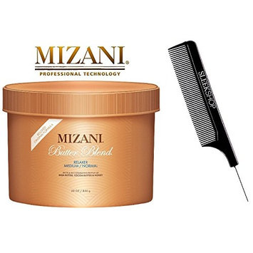 Mizani BUTTER BLEND Relaxer for FINE/COLOR-TREATED Hair (BELOVED ORIGINAL FORMULA) with a Moisturizing Blend of Shea Butter, Cocoa Butter & Honey (with Sleek Comb) (FINE/CT - 30 oz/850 ml)
