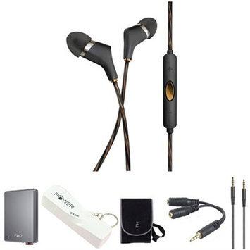 Klipsch X6i In-Ear Headphones (Black) with Headphone Kit