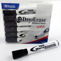 Atb 12 Low Odor Dry Erase Whiteboard Marker Black Chisel Tip Pens Office School New