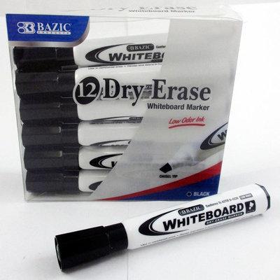Atb 12 Low Odor Dry Erase Whiteboard Marker Black Chisel Tip Pens Office School New