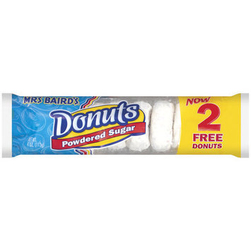 Mrs. Baird's Powdered Sugar Donuts, 4 oz