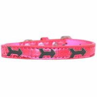 Arrows Widget Croc Dog Collar Bright Pink Size 18
