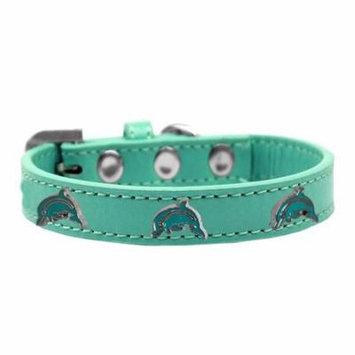 Dolphin Widget Dog Collar Aqua Size 12