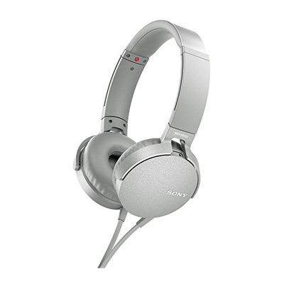 Sony MDRXB550AP/W - EXTRA BASS, On-ear, Wired Headphone - White