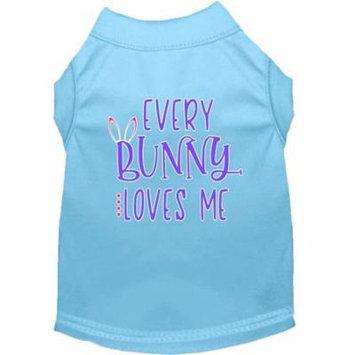 Every Bunny Loves me Screen Print Dog Shirt Baby Blue XXL (18)