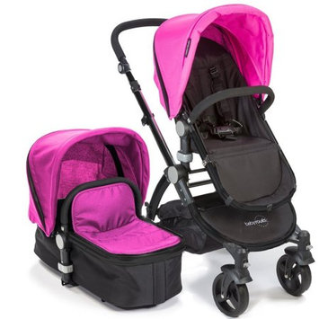 Baby Roues Canvas Collection Black Frame Baby le Tour II In Pink