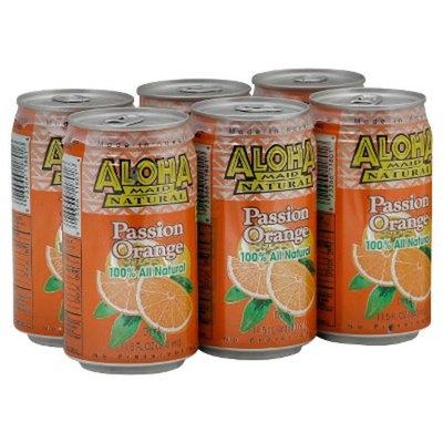 Aloha Maid Juice, Passion Orange, 11.5-Ounce (Pack of 24)