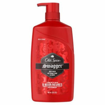 Old Spice Red Zone Swagger Scent Body Wash for Men 30 fl. oz. Bottle (Pack of 10)
