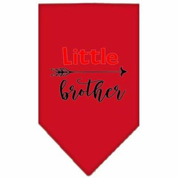 Little Brother Screen Print Bandana Red Large