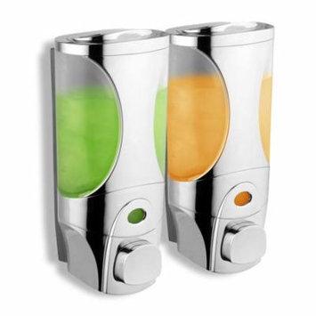 HotelSpa Curves Luxury Soap/Shampoo/Lotion Modular-design Shower Dispenser System (Pack of 2)