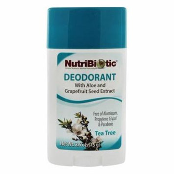 Deodorant With Aloe and Grapefruit Seed Extract Tea Tree - 2.6 oz. by Nutribiotic (pack of 2)