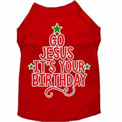 Go Jesus Screen Print Dog Shirt Red XL (16)