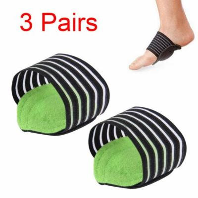 TekDeals 3 Pairs Elastic Cushioned Arch Support for Men Women Breathable Plantar Fasciitis Arch Support Foot Arch Band Wraps