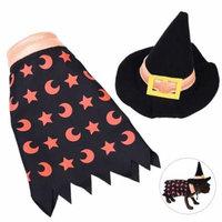 Halloween Pet Costume, Legendog Includes Witch Hat Cloak Dog Party Decoration Accessories Pet Cat Cosplay Fancy Costume Set Pet Outfit Apparel