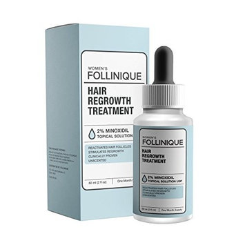 FOLLINIQUE - Incredible Hair ReGROWTH Treatment, FDA Approved, Fast Acting, Clinically Proven Results In 2 Months, 2% Minoxidil