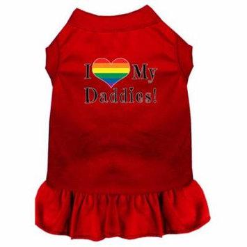 I Heart my Daddies Screen Print Dog Dress Red XXXL