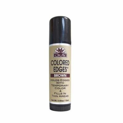 OKAY OKAY-EDGEBRWT1 0.5 oz & 15 ml Colored Edges Brown Tube Stick