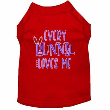 Every Bunny Loves me Screen Print Dog Shirt Red XL (16)