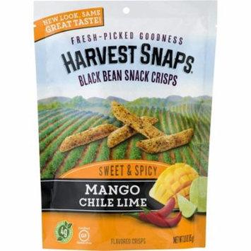 Calbee Harvest Snaps Mango Chile Lime Baked Black Bean Crisps 3 OZ (Pack of 12)