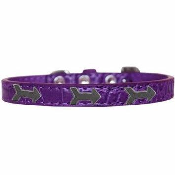 Arrows Widget Croc Dog Collar Purple Size 20