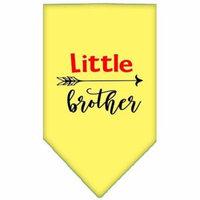 Little Brother Screen Print Bandana Yellow Large
