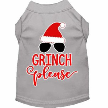 Grinch Please Screen Print Dog Shirt Grey XXL (18)