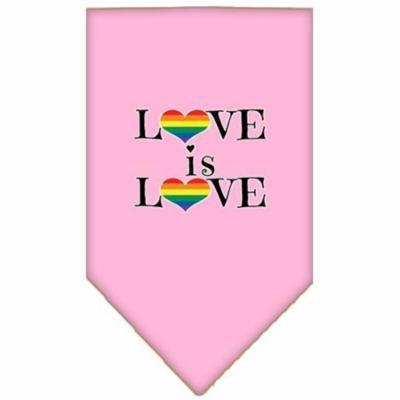 Love is Love Screen Print Bandana Light Pink Small