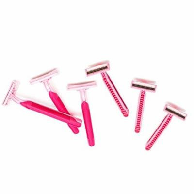 Pink Disposable Twin Blade Razors for Women - 12 Pack