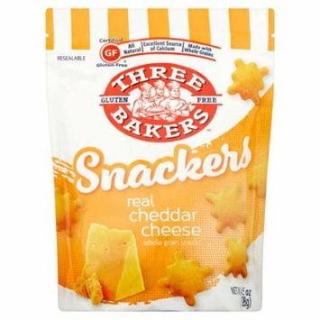 Three Bakers Snack Cheddar Cheese Gf,4.5 Oz (Pack Of 8)
