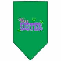 Big Sister Screen Print Bandana Emerald Green Small