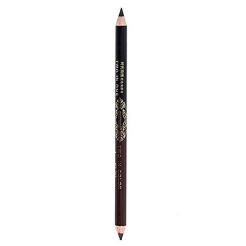 Sunvy Precision Brow Liner - Double Ended Eyebrow Pencil Double Color Waterproof Cosmetic Beauty Makeup Eyebrow Pen black and Coffee 12pc