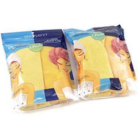 Microfiber Twist Hair Turban and Bouffant Shower Cap set by Spa Savvy Hair Color Is Orange (2pack)