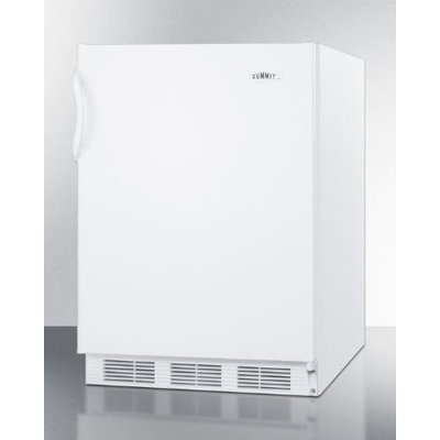 Summit CT66JBIADA: ADA compliant refrigerator-freezer in white for built-in use, with cycle defrost and de