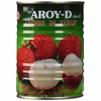 Aroy-D Lychee in Syrup 20 OZ (Pack of 3)