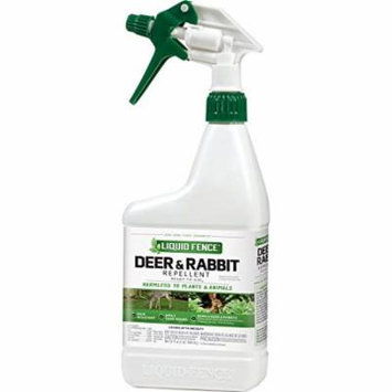 2 Pk Liquid Fence Deer & Rabbit Repellent Ready-Use, Harmless to Plants 32 Oz Ea