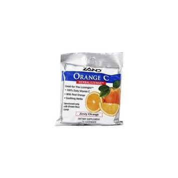Herbalozenge Orange C with Vitamin C Orange Flavor - 15 Lozenges by Zand (pack of 4)