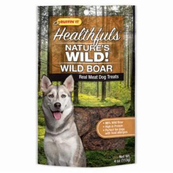 Westminster Pet Products 236394 4 oz Healthfuls Natures Wild Wild Boar Real Meat Dog Treats