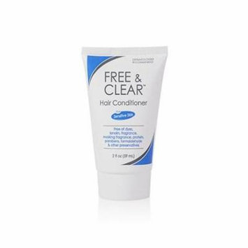 6 Pack Free & Clear Conditioner Travel Size 2oz Each