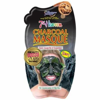 2 Pack 7th Heaven Face Mask Charcoal Mud Peel Detox Away OilS 0.5oz Each
