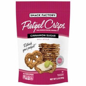 Snack Factory Pretzel Crisps, Cinnamon Sugar, 7.2 Oz, 12 Ct