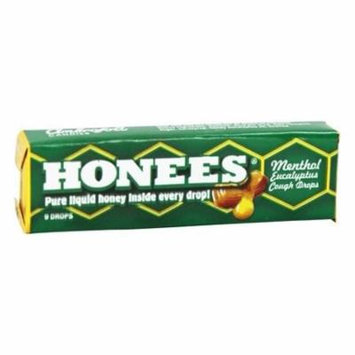 Liquid Honey Drops Menthol Eucalyptus - 9 Lozenges by Honees (pack of 12)