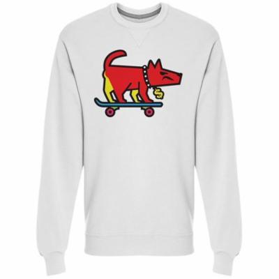 Angry Skater Dog Cash Collar Sweatshirt Men's -Image by Shutterstock