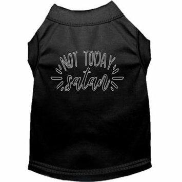 Not Today Satan Screen Print Dog Shirt Black XS (8)