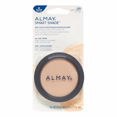 Almay Smart Shade Skintone Matching Pressed Powder, Light/Medium 200, 0.20 Oz (Pack of 4)
