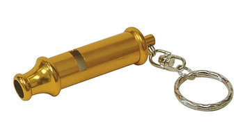 Hy-ko Products Company Hy-Ko 3in Bobby Whistle Key Ring in Red, Green, Purple, Blue, Yellow And Silver (KB350-BKT)