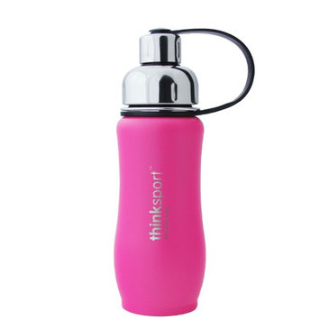 Thinksport Insulated Sports Bottle, Coated Hot Pink, 12 Oz (350ml)